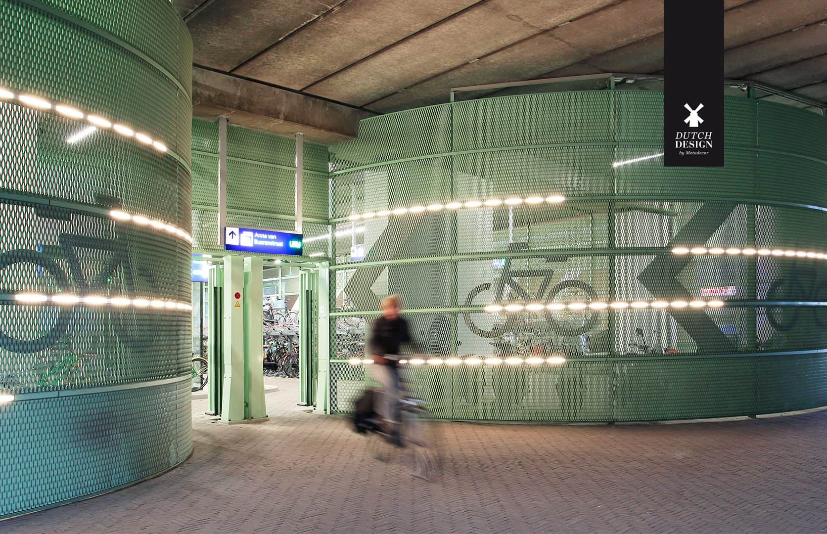 DDBM - Bycycle Parketing Den Hague The Netherlands cladding expanded metal