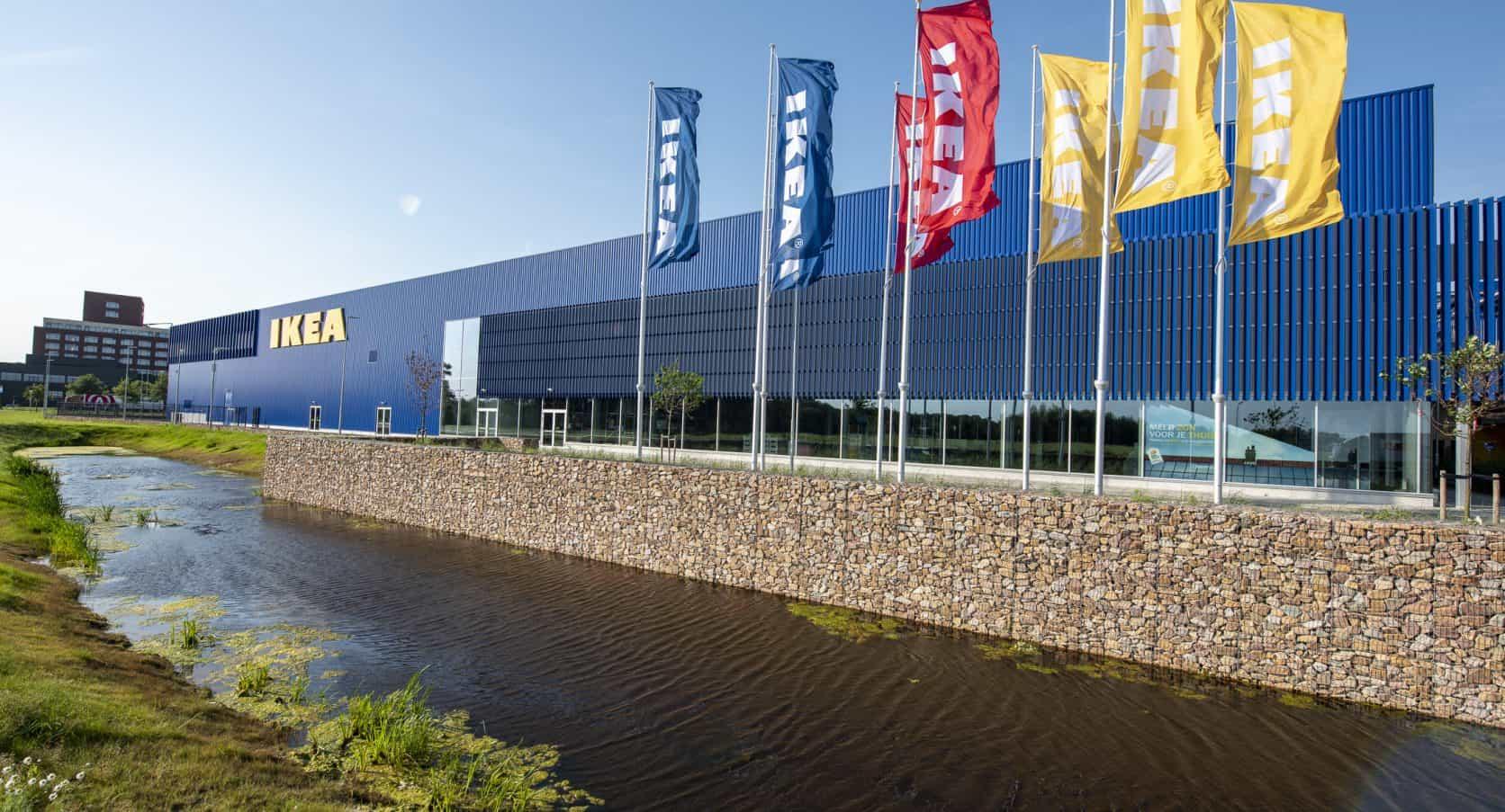 Overview IKEA Zwolle MD Lamel facade